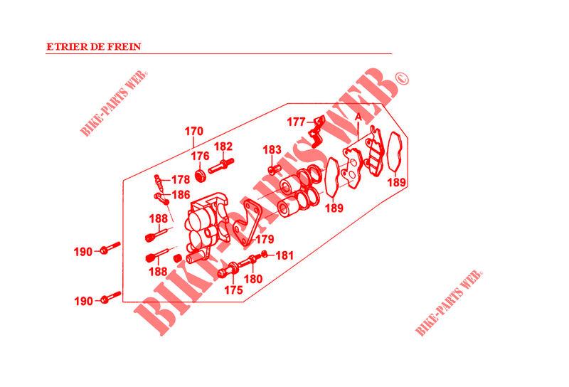 etrier de frein stryker 125 4t stryker 125 moto kymco moto kymco catalogue de pi ces. Black Bedroom Furniture Sets. Home Design Ideas