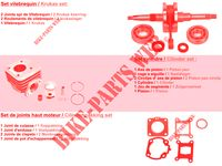 KIT DE PIECES D'ORIGINE pour Kymco AGILITY CITY 50 16x 2T EURO II