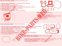 KIT DE PIECES D'ORIGINE pour Kymco AGILITY 50 12 4T EURO 4
