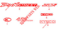 AUTOCOLLANTS DINK STREET 300 I ABS EURO III  avec warning  300 kymco-moto DINK DINK STREET 300 I ABS EURO III -avec warning- 21