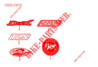 EMBLEMES pour Kymco GRAND DINK 125 4T EURO II