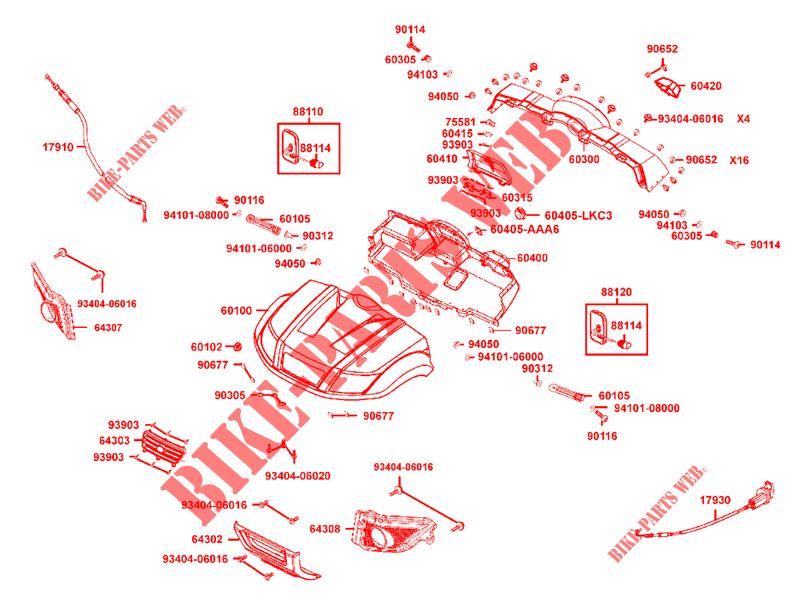 CAPOT / TABLEAU DE BORD pour Kymco KYMCO UXV 500 I 4T EURO