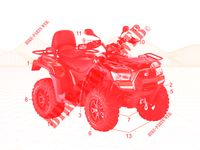 KIT ENTRETIEN TRANSMISSION MXU 550 EX IRS 4X4 INJECTION 4T EURO II 550 kymco-moto MXU MXU 550 EX IRS 4X4 INJECTION 4T EURO II 2