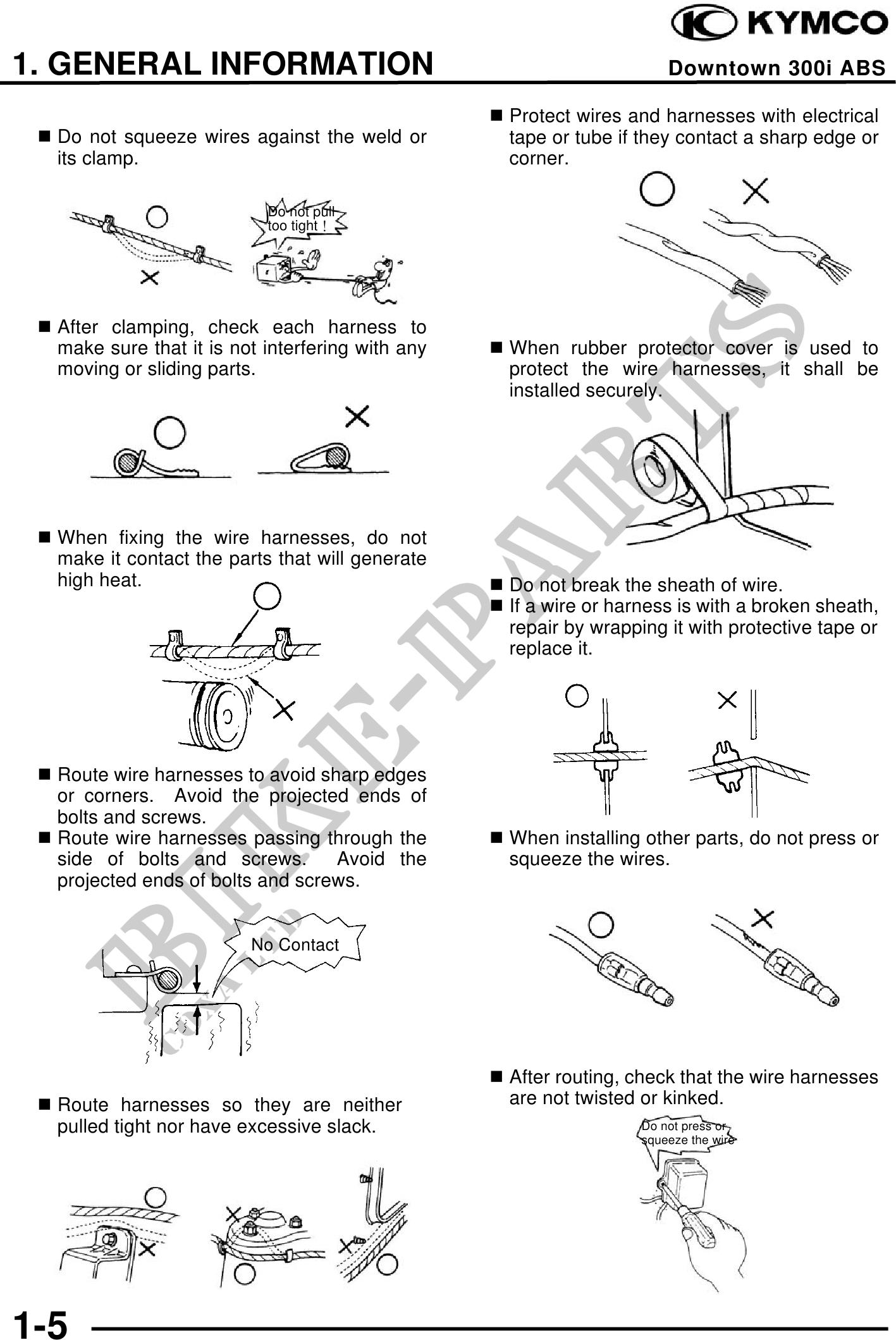 Kymco Catalogue De Pices Dtaches Dorigine Wiring Harness Dinkstreet 300 I Abs Manuel Atelier Page 8